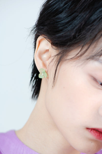 Flower earrings ICE GREEN