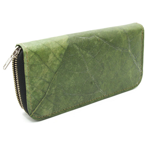 Teak leaf wallet GREEN
