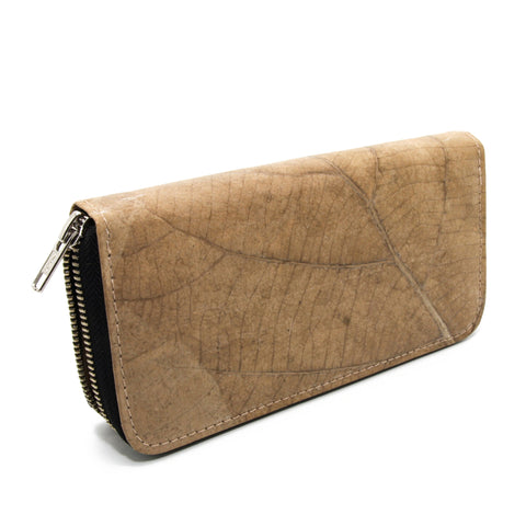 Teak leaf wallet NATURAL