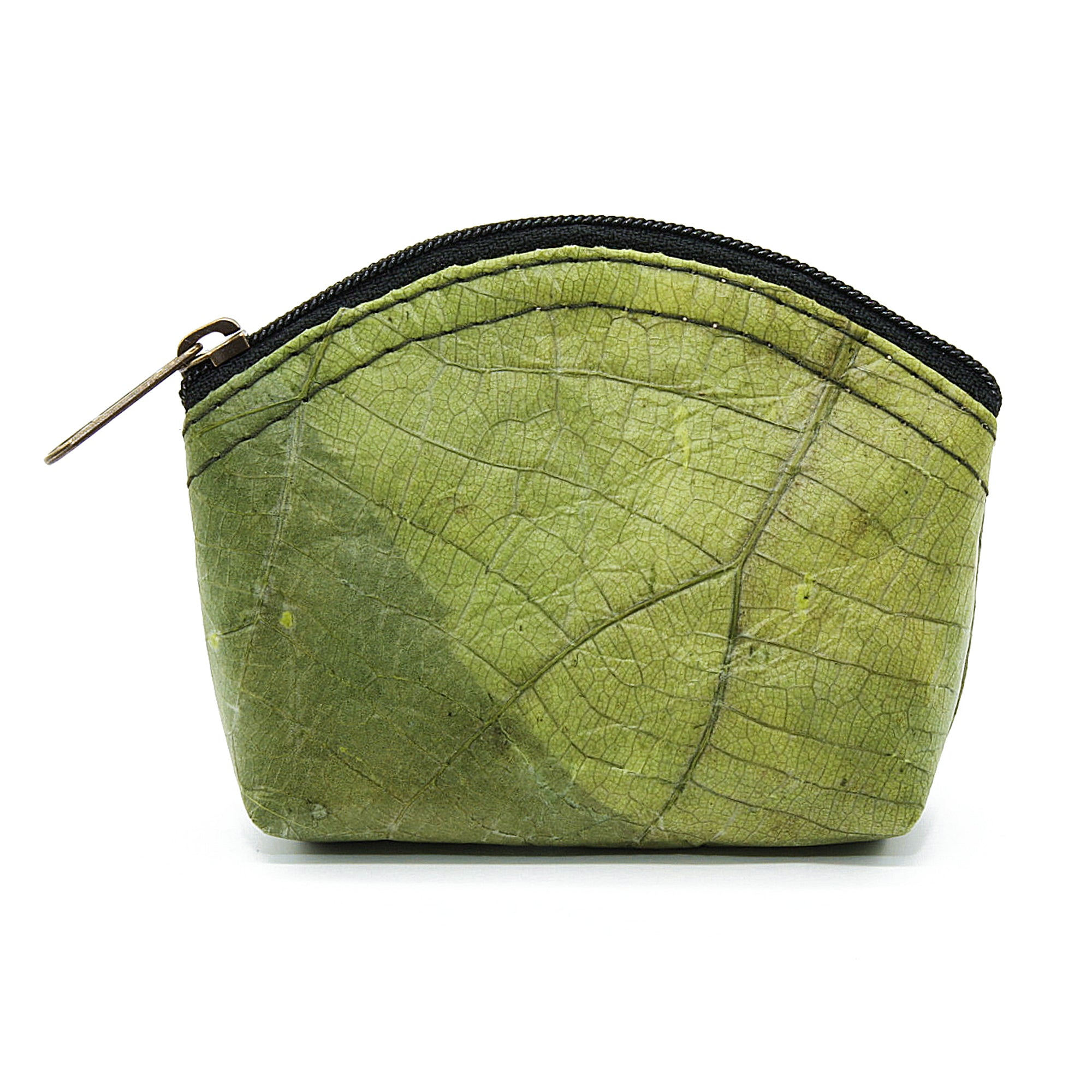 Teak leaf mini purse GREEN