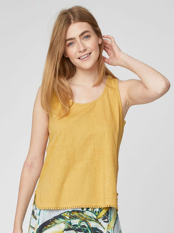 Hemp top FLORIANNE yellow
