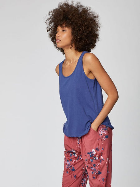 Hemp top FLORIANNE blue
