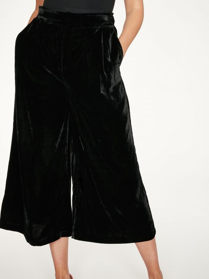 Recycled PET velvet culottes VERONICA