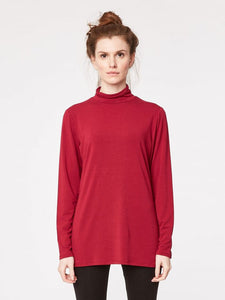 Bamboo turtle neck sweater BASE red