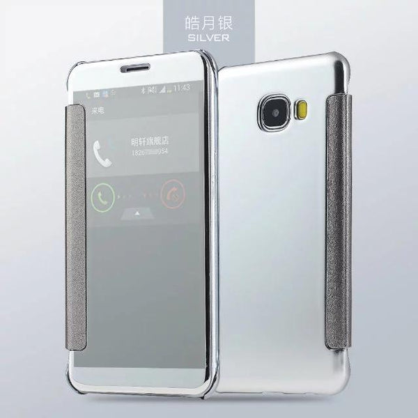 Galaxy J7 Prime Mirror Plating Flip Case