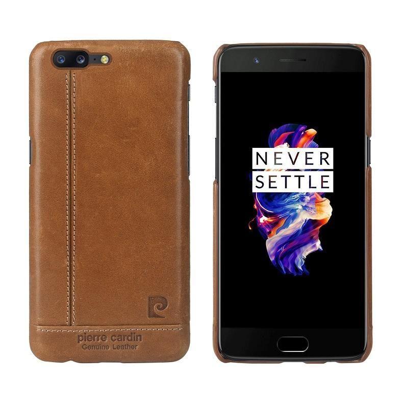 OnePlus 5 Genuine Leather Pierre Cardin Case