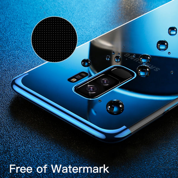 Galaxy S9/S9 Plus Sparkling Electroplating Transparent Case
