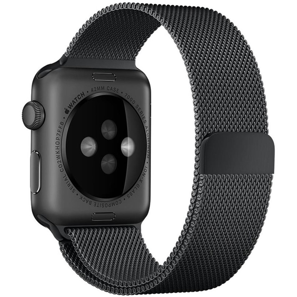 Magnetic Stainless Steel Strap - Black for Apple Watch (ONLY STRAP NOT WATCH)
