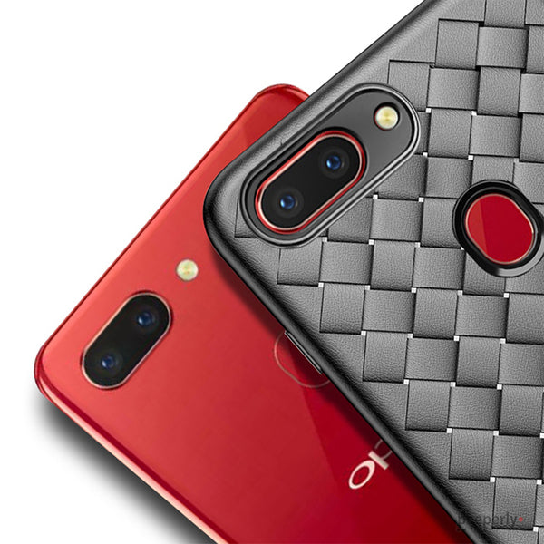 Oppo F9/F9 Pro Ultra-thin Grid Weaving Case
