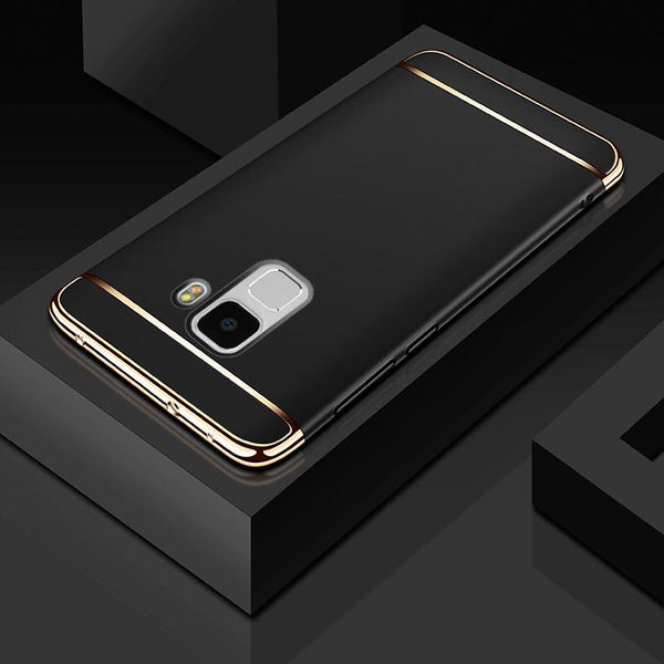 Galaxy A8 Plus Luxury 3 in 1 Electroplating Back Case