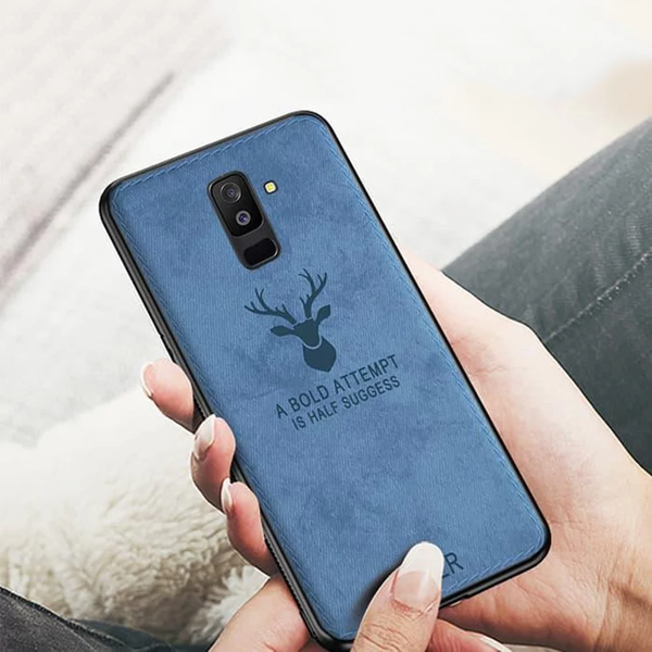 Galaxy A6 Plus Deer Pattern Inspirational Soft Case