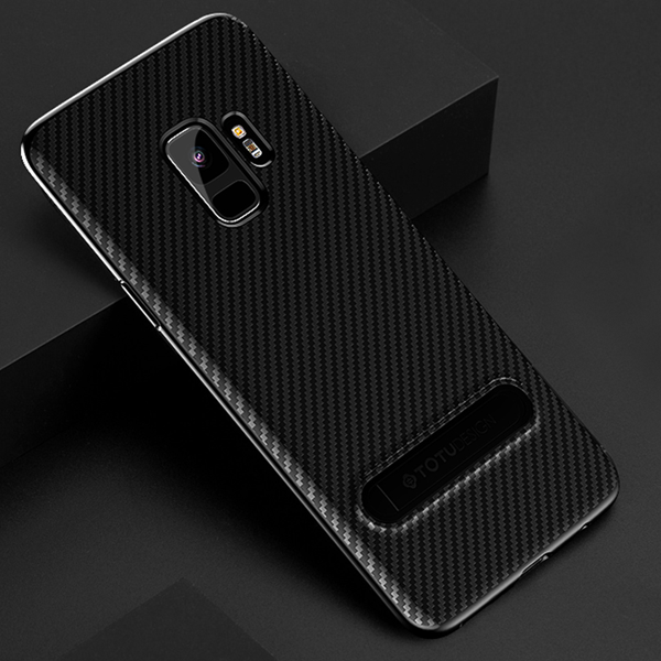 Galaxy S9/S9 Plus Premium  Carbon Fiber Kickstand Case
