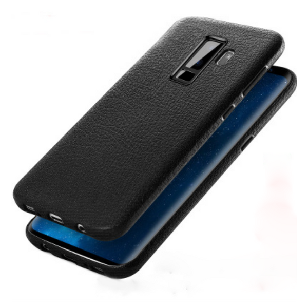 Galaxy S9/S9 Plus Soft TPU Leather Texture Case