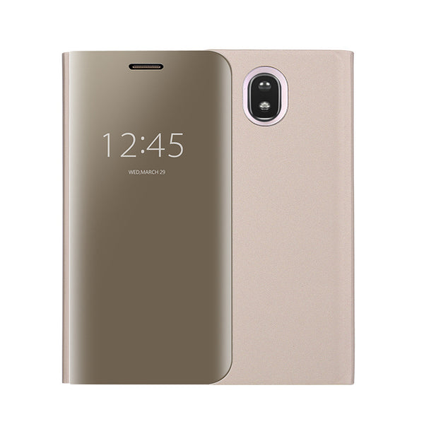 Galaxy J7 Pro Mirror Clear View Flip Cover [Non Sensor Working]