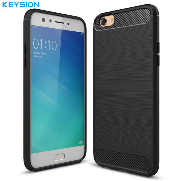 Oppo F3 Carbon Fiber Soft TPU Back Cover