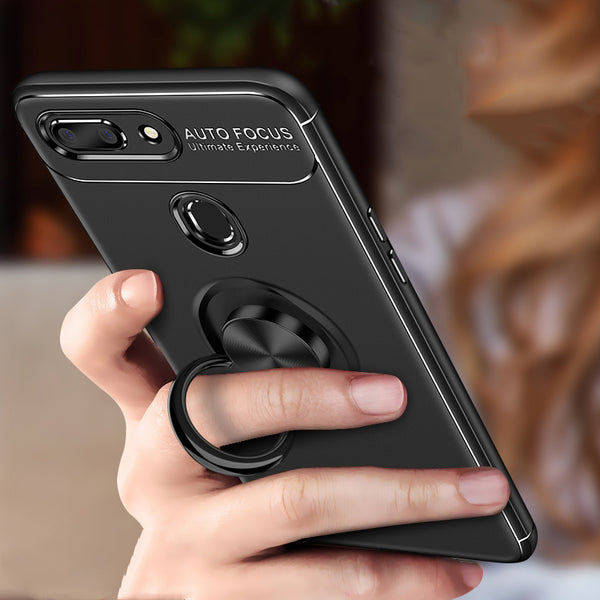 Oppo Realme 2 Pro Metallic Finger Ring Holder Matte Case