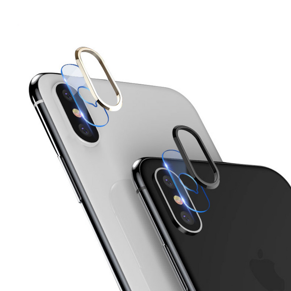 iPhone X Camera Lens Protector (Metal Ring + Tempered Glass)