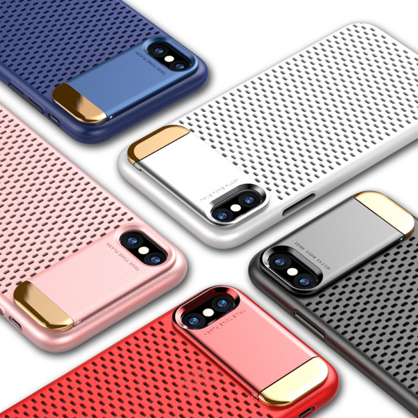 iPhone X Honeycomb Hollow Heat Dissipation Case