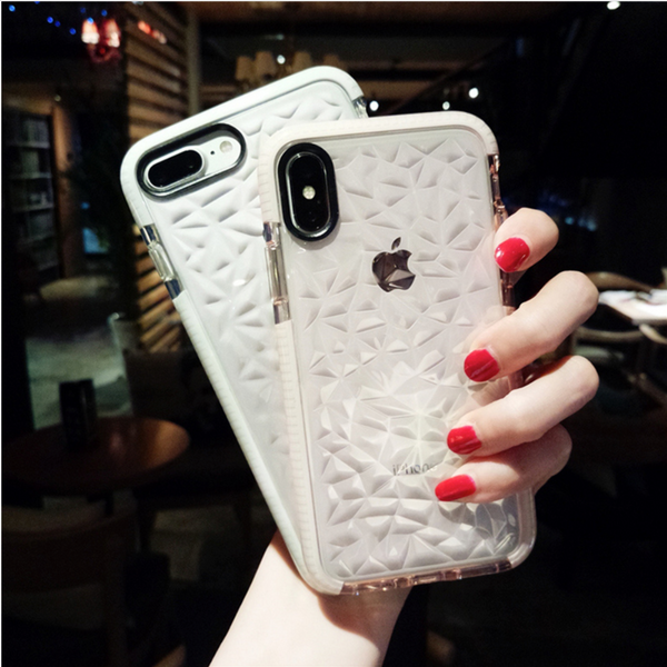 iPhone 7/8, 7/8 Plus Luxury Geometric Liquid Diamond Shockproof Case