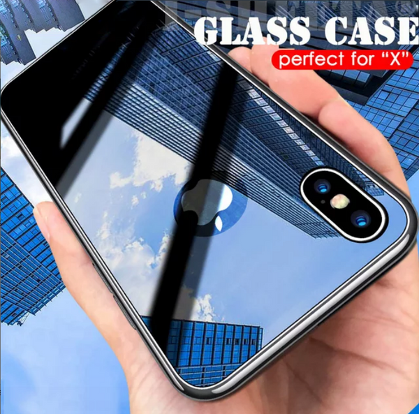 iPhone XS Max Glossy Protective Logo Cut Glass Case