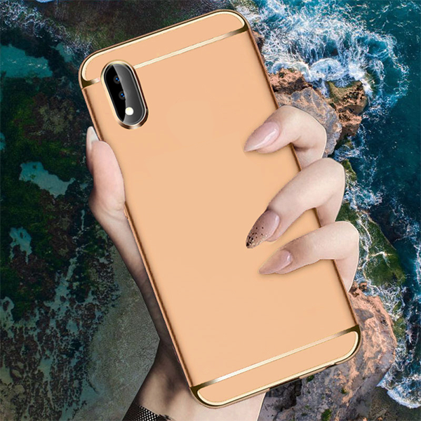 Vivo X21 Luxury Electroplating 3 in 1 Matte Finish Case