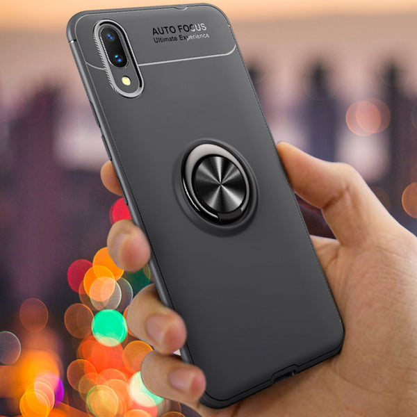 Vivo V11 Pro Metallic Finger Ring Holder Matte Case