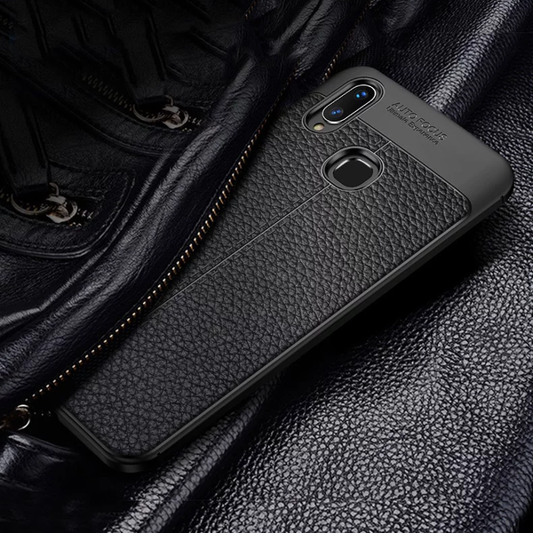 Vivo V11 Auto Focus Leather Texture Case