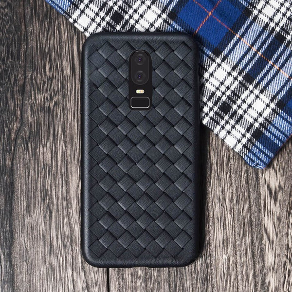 OnePlus 6 Ultra-thin Grid Weaving Case