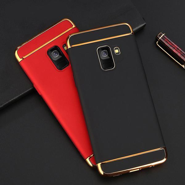 Galaxy A6 Plus Luxury 3in1 Electroplating Matte Finish Case
