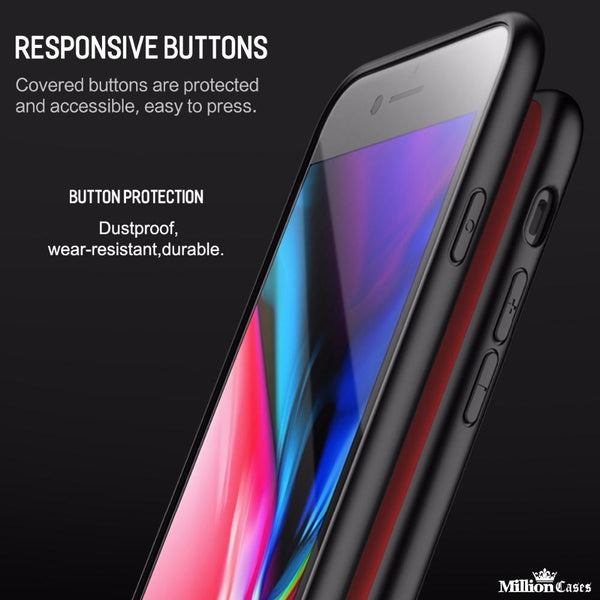 iPhone 7/7 Plus Coloured Glass Protection Case