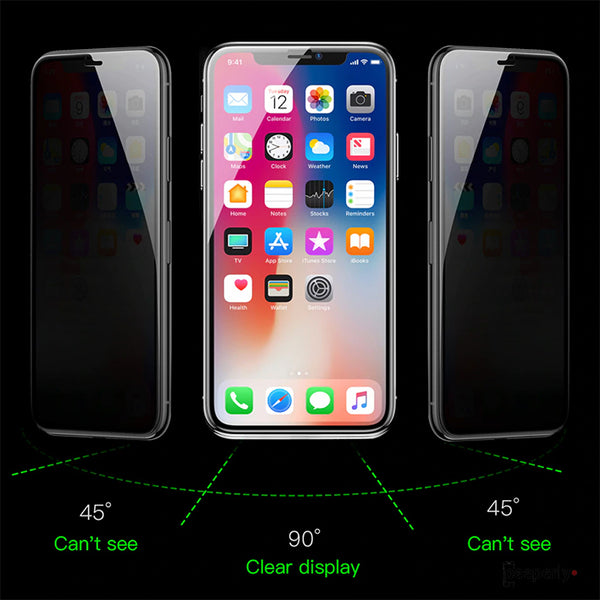 Baseus ® iPhone XR Privacy 5D Tempered Glass [Anti- Spy Glass]