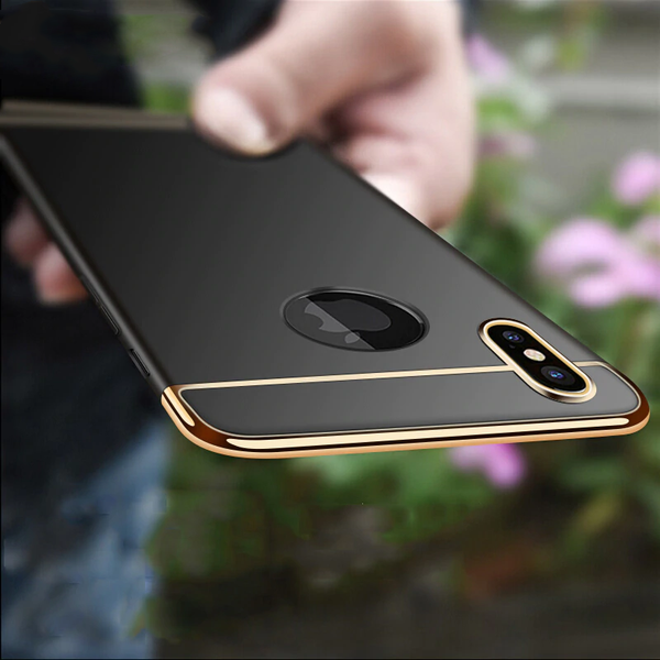 Luxury Electroplating 3 in 1 Case for iPhone X