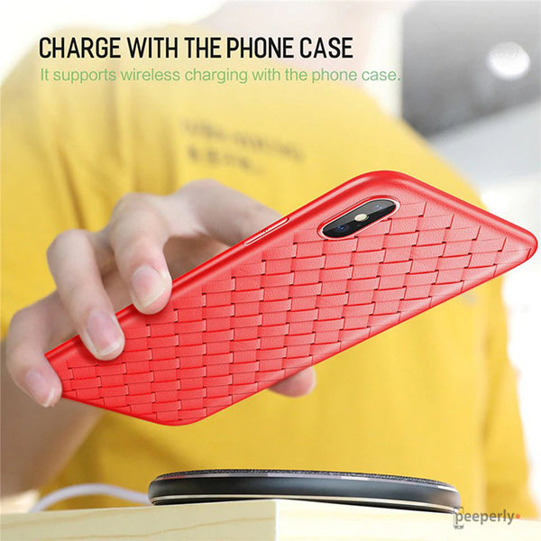 iPhone XS Max Ultra Thin Soft Grid Weaving Case