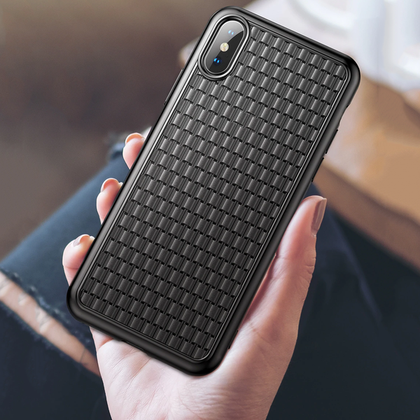Baseus ® iPhone XS Max Knitted Breathing Soft Case
