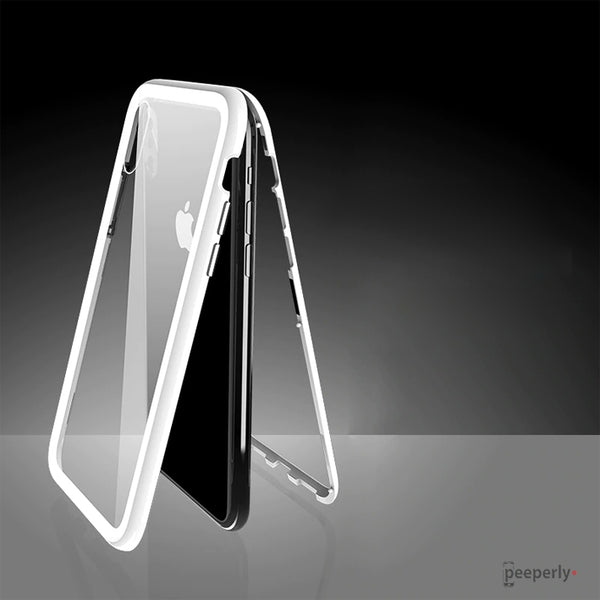 iPhone XS/XS Max Electronic Auto-Fit Magnetic Transparent Glass Case