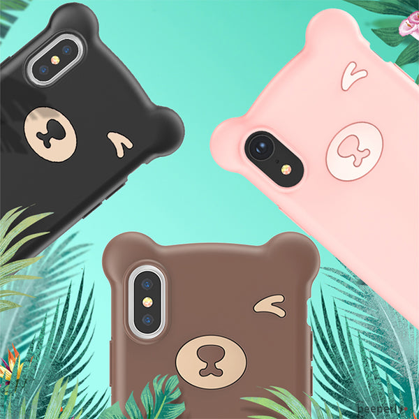 Baseus ® iPhone XS Max Bear Design Silicone Case