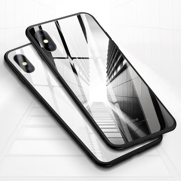 iPhone X/XS Glossy Protective Logo Cut Glass Case