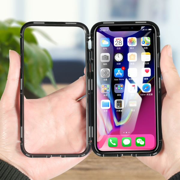 Apple iPhone X Electronic Auto-Fit Magnetic Transparent Glass Case