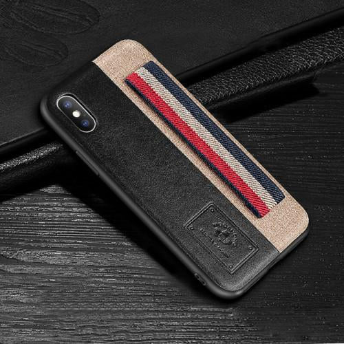 iPhone X Original PU Leather Crafted Edition Case