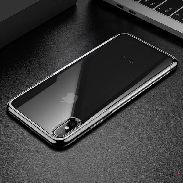 Baseus ® iPhone XS Max Ultra-Thin Transparent Sparkling Edge Case