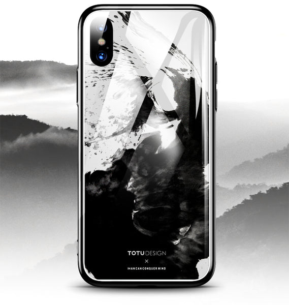 iPhone X Splash Ink Glass Case