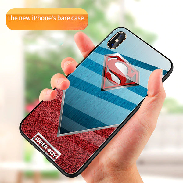 iPhone X Super Hero Series Glass Back Case