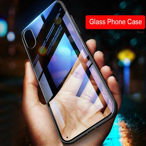 iPhone XR Ultra-Slim Glass TPU Frame Case