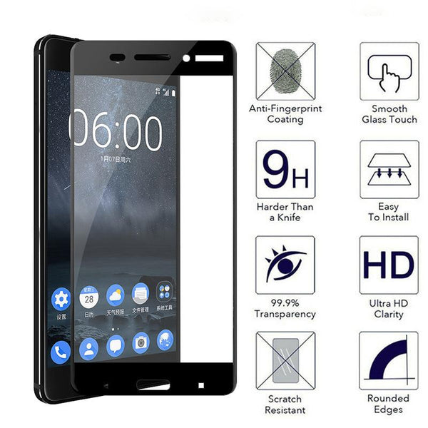 Nokia 6 Curved Edge 3D Tempered Glass