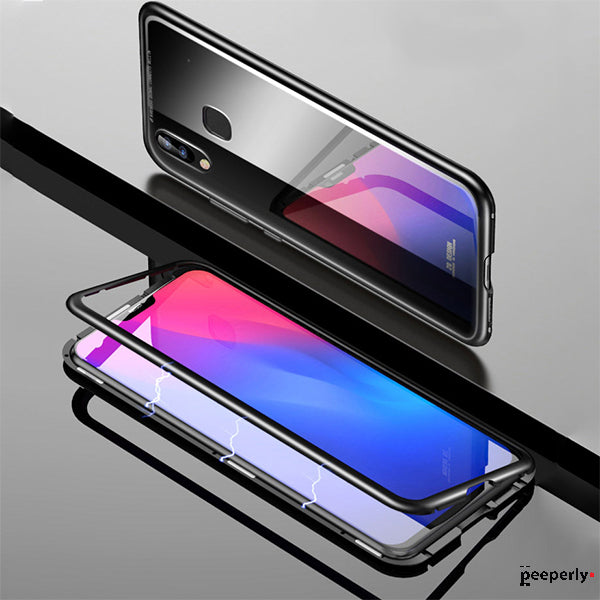 Vivo V9 Electronic Auto-Fit Magnetic Transparent Glass Case
