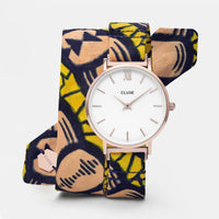 CLUSE x Mino Design Minuit Rose Gold White​/​Bow Wow CL30057 - watch