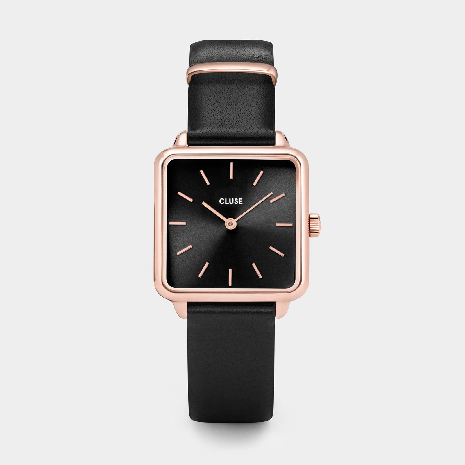 CLUSE La Tétragone Rose Gold Black/Black CL60007 - watch