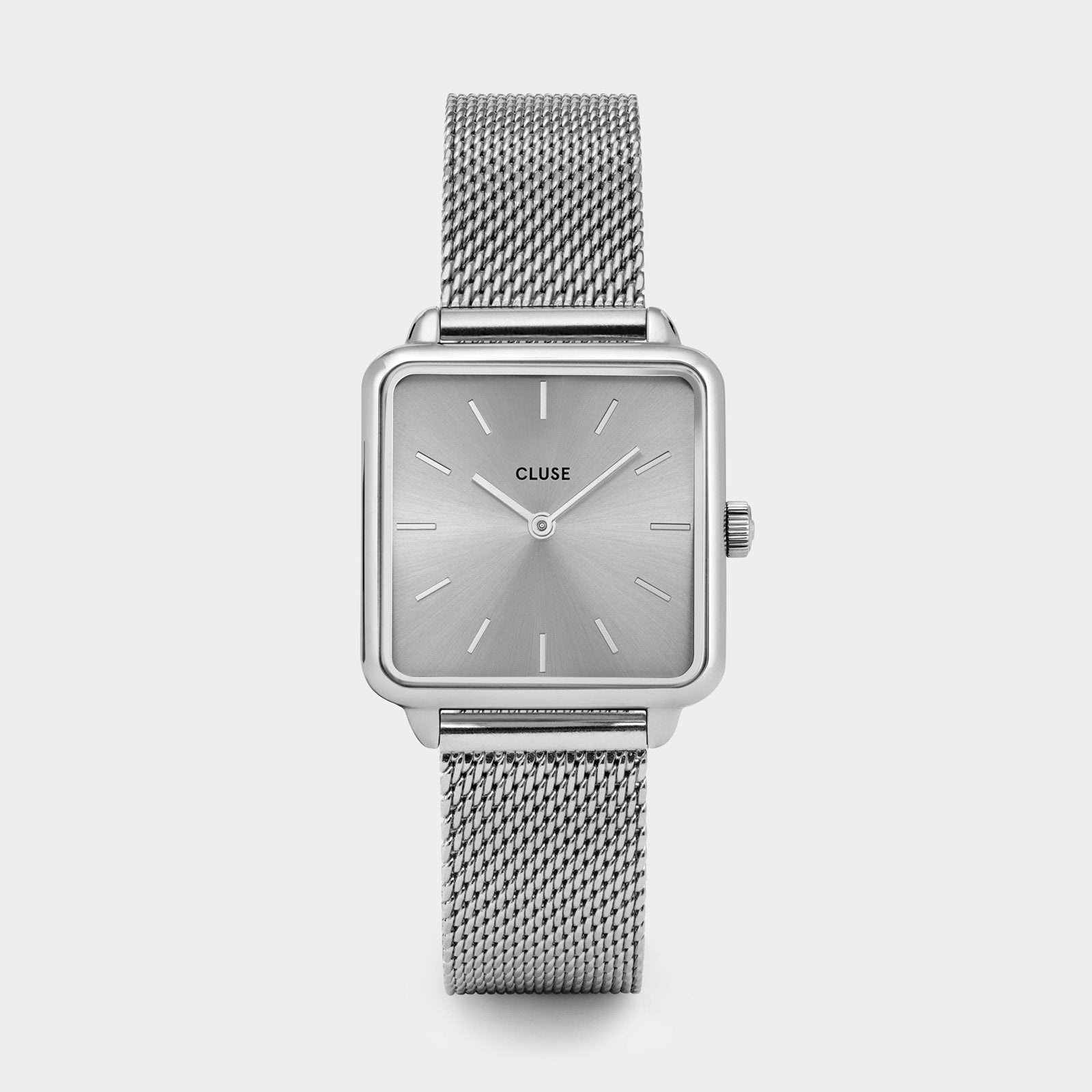 CLUSE La Tétragone Mesh Full Silver CL60012 - watch