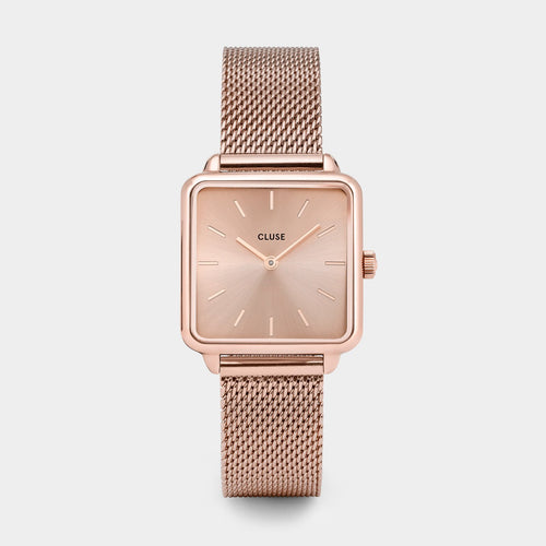 Image: CLUSE La Tétragone Mesh Full Rose Gold CL60013 - watch