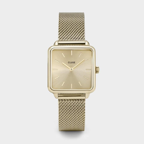 Image: CLUSE La Tétragone Mesh Full Gold CL60015 - Watch